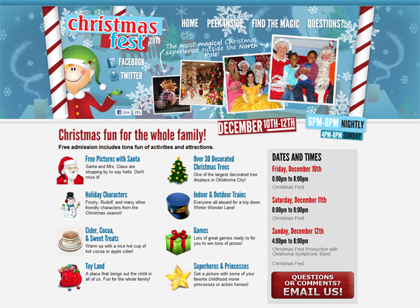 Christmas Fest 2010 Website Design by Ingage Creative