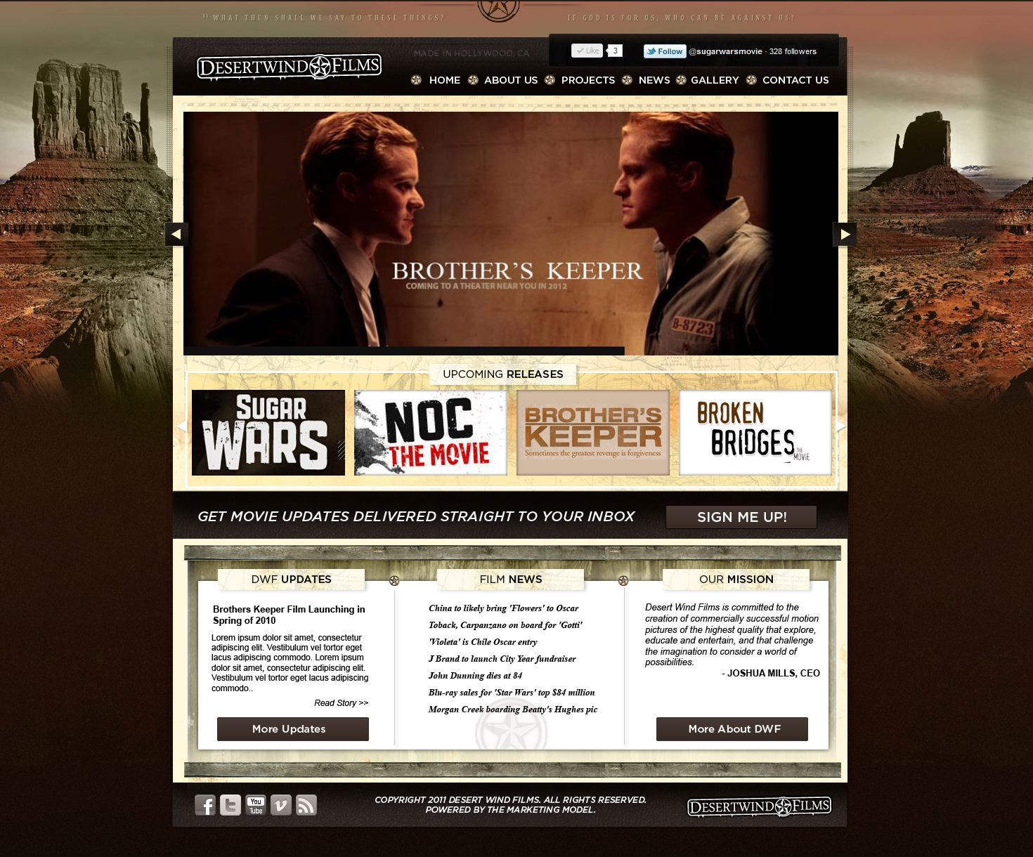 Oklahoma City Website for Desert Wind Films