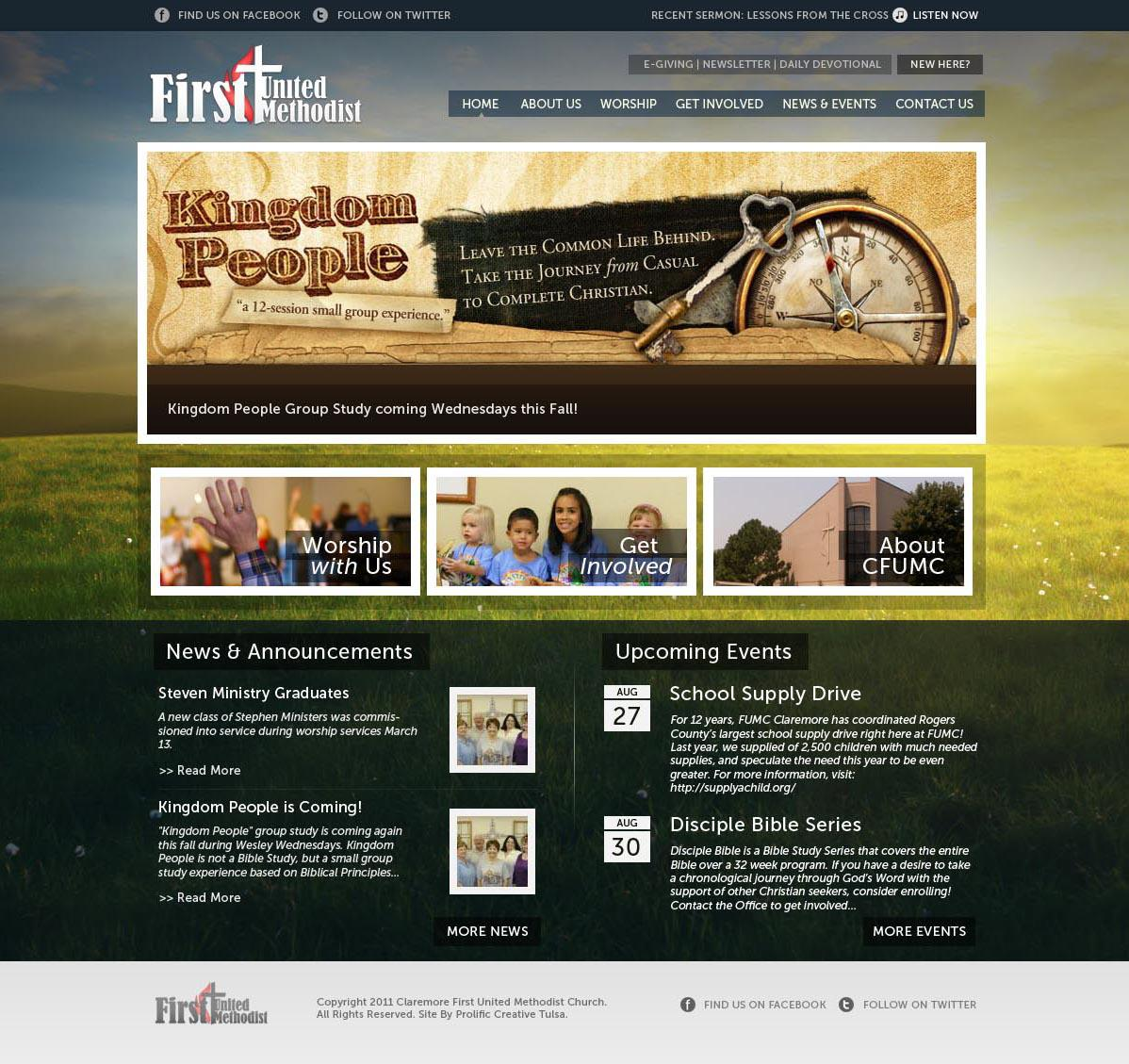Website Design for Claremore FUMC