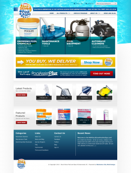 OKC Ecommerce Website for Buck Stove Pool and Spa