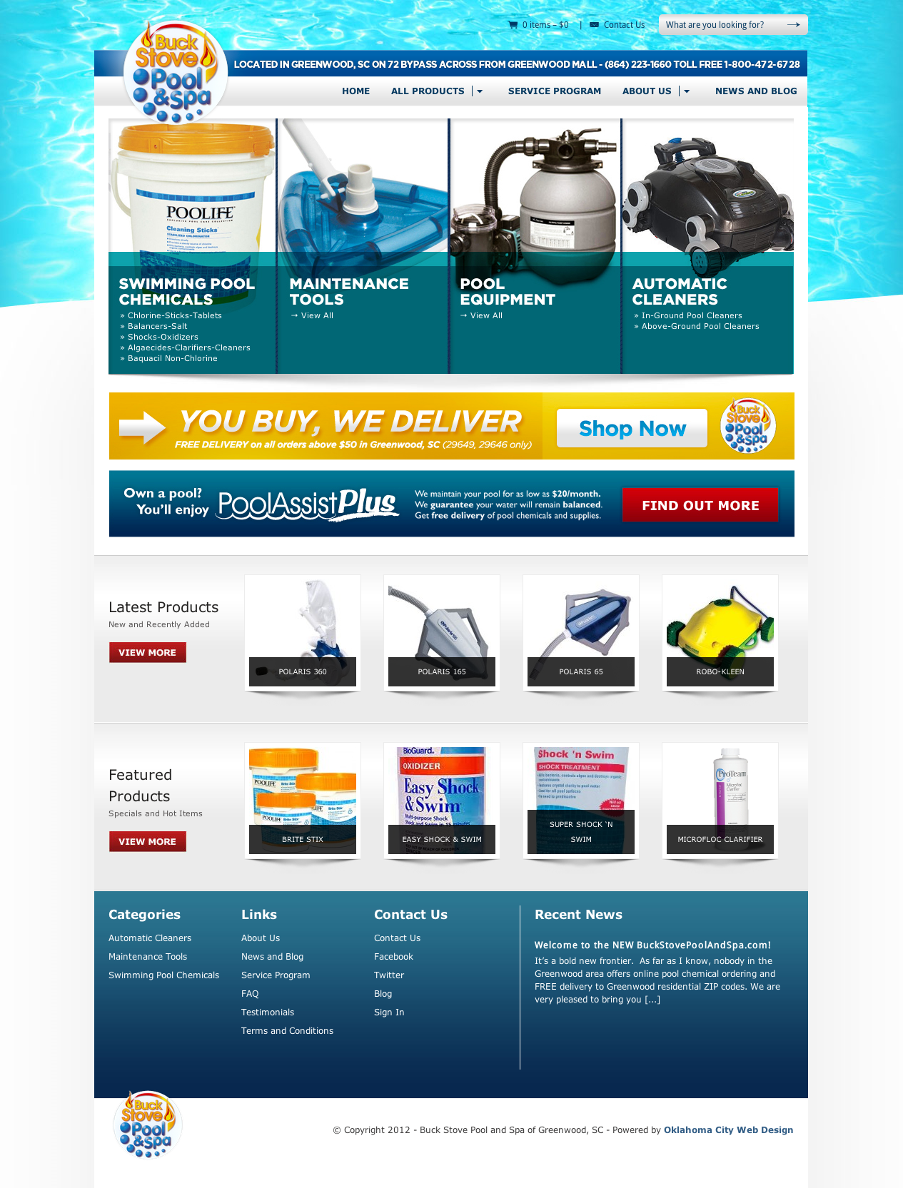 Buck Stove Pool and Spa Website - Ingage Creative