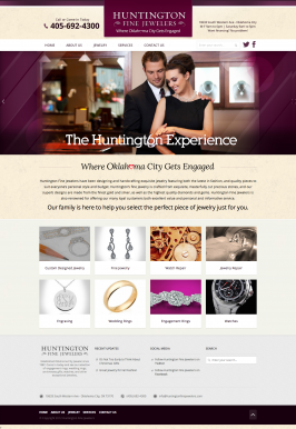 OKC Business Website for Huntington Fine Jewelers