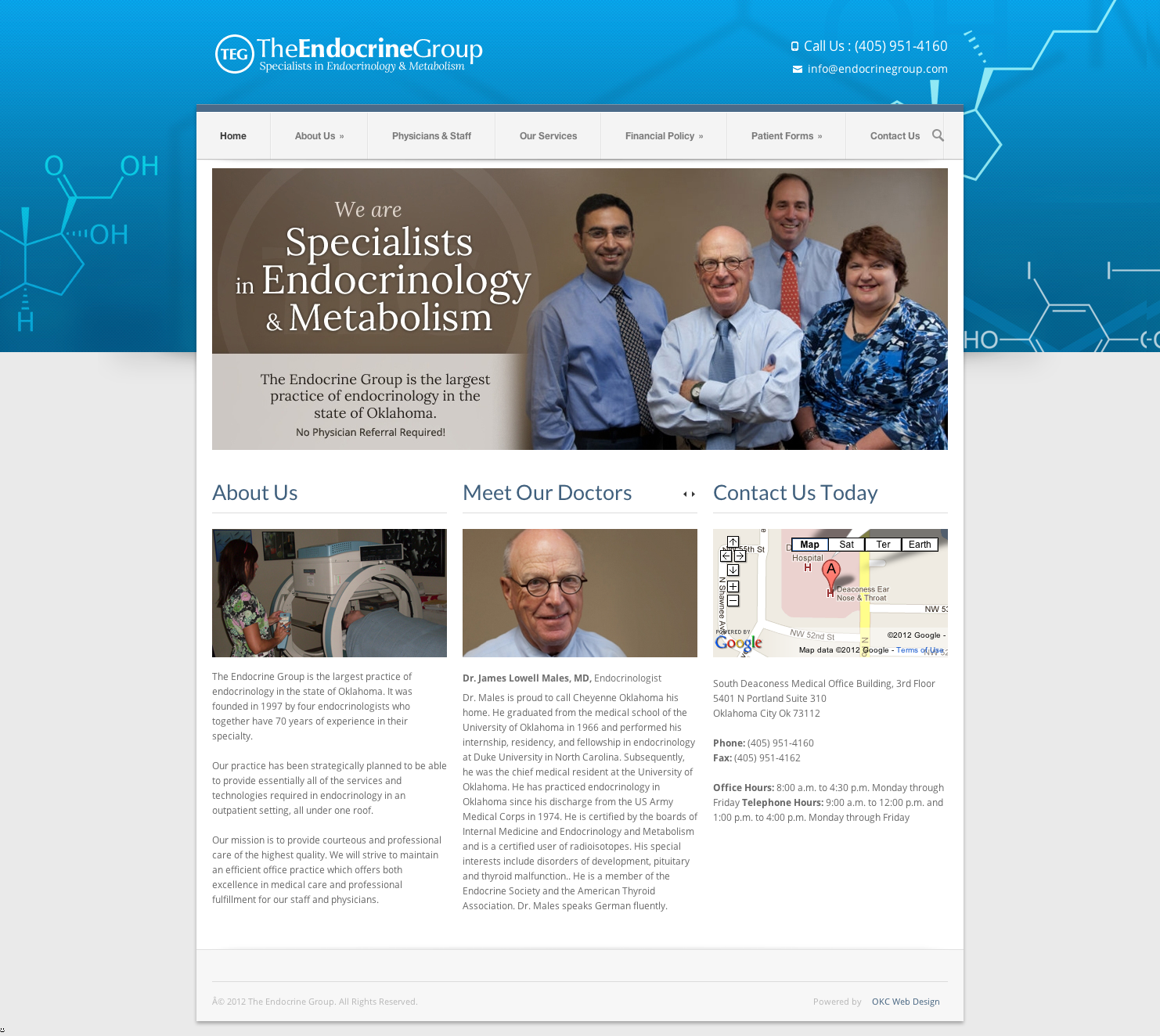 Endocrine Group - Oklahoma Website Design Portfolio