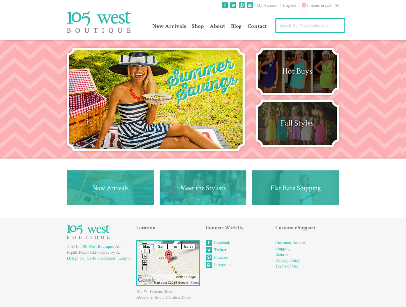 105 West Boutique Web Design Oklahoma City