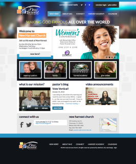 New Harvest Church Web Design Oklahoma City