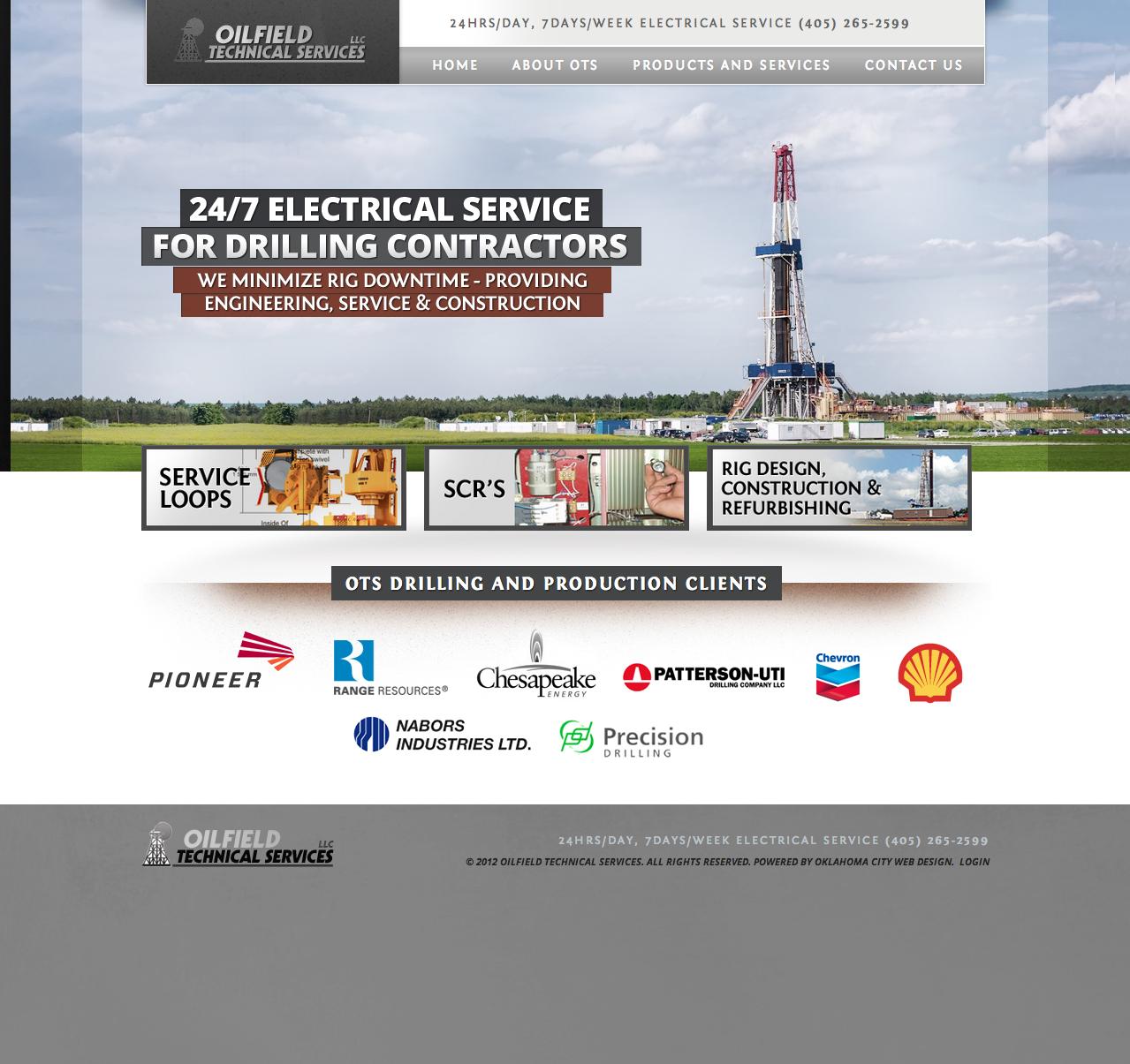 Oilfield Technical Services Web Design Oklahoma City